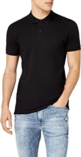 Jack & Jones Men's Jjebasic Polo Ss Noos Shirt, Black (Black Detail: Slim Fit), Large