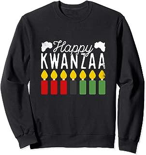 Happy Kwanzaa Seven Candles Nguzo Saba Traditions Holiday Sweatshirt