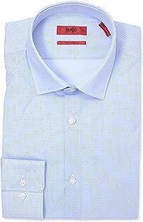 Mabel Sharp Fit Blue Micro Pattern Dress Shirt