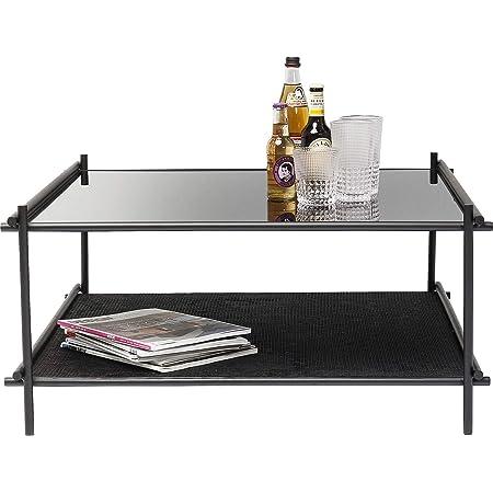 Kare 83672 Coffee Table Mesh 80 X 80 Cm Wood Material Pvc Black One Size Amazon De Kuche Haushalt