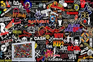 Geekpuz Top Rock Band Logo 1000 Pieces Wooden Jigsaw Puzzles Art Collection 30:20 Inch Home Decoration