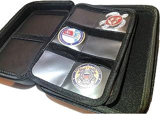 علبة نقود معدنية صلبة بسحاب قابل للتجميع والسفر وهواة جمع العملات المعدنية