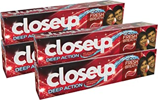 Close Up Toothpaste Red Hot, 120 ml (Pack of 4)