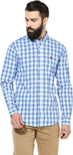 Red Tape Men's Checkered Regular Fit Casual Shirt (RSF8760A_Royal Blue_M)