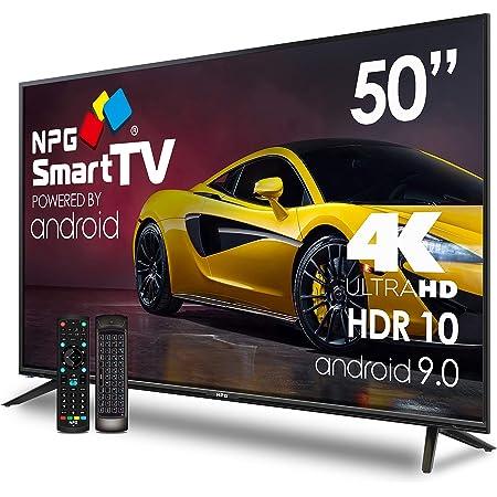 """NPG 530L50UQ 4K 2020 – 50""""4K UHD Smart TV con Mando con Teclado QWERTY y Función MOTION, Android 9.0, Procesador Quad Core, WiFi, DVB-T2/C, PVR, ..."""