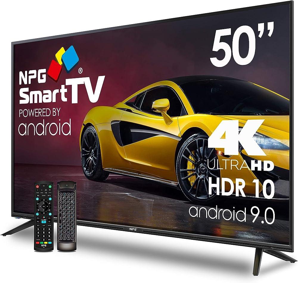 Npg tv led 50 pollici uhd 4k, smart tv android 9.0 piu` smart control qwerty/motion, hdr10 dolby digital plus S530L50UQ