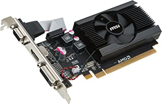 MSI V809-2847R - Tarjeta gráfica (Radeon R7 240, 2 GB, GDDR3, 64 bit, 1600 MHz, PCI Express x16)