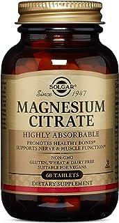 Solgar, Magnesium Citrate 60 Tabletss Prop 65