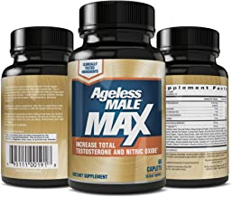 Ageless Male Max Total Testosterone & Nitric Oxide Booster for Men – Improve Workouts & Ramp Up Muscle, Reduce Fat Faster Than Exercise Alone, Support Sleep, Drive & Energy (60 Capsules, 1-Pack)