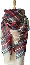 HOTINS Womens Oversized Blanket Scarf Stylish Warm Tartan Plaid Scarf Gorgeous Wrap Shawl