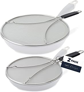 Splatter Screen for Frying Pan - Set of 2 Grease Splatter Screens 9.5 inch and 13 inch Diameters - Protect Yourself and Yo...