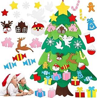 LOVEXIU áRbol De Navidad De Fieltro para NiñOs, Juego De áRbol De Navidad De Bricolaje, DecoracióN NavideñA Colgante para ...