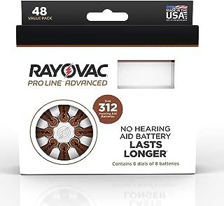 Rayovac Proline Mercury-Free Hearing Aid Batteries Size 312 (48)