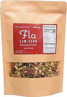 Keto Granola Fla Low Carb - Vegan, 2g Net Carbs, Sugar & Grain Free Trail Mix Nut Snacks, Ketogenic Diet Friendly, Healthy Snack Food & Breakfast Cereal - 11oz bag (11 servings)