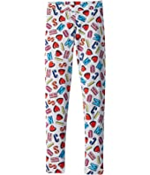 Moschino Kids - All Over Logo Heart Print Leggings (Big Kids)