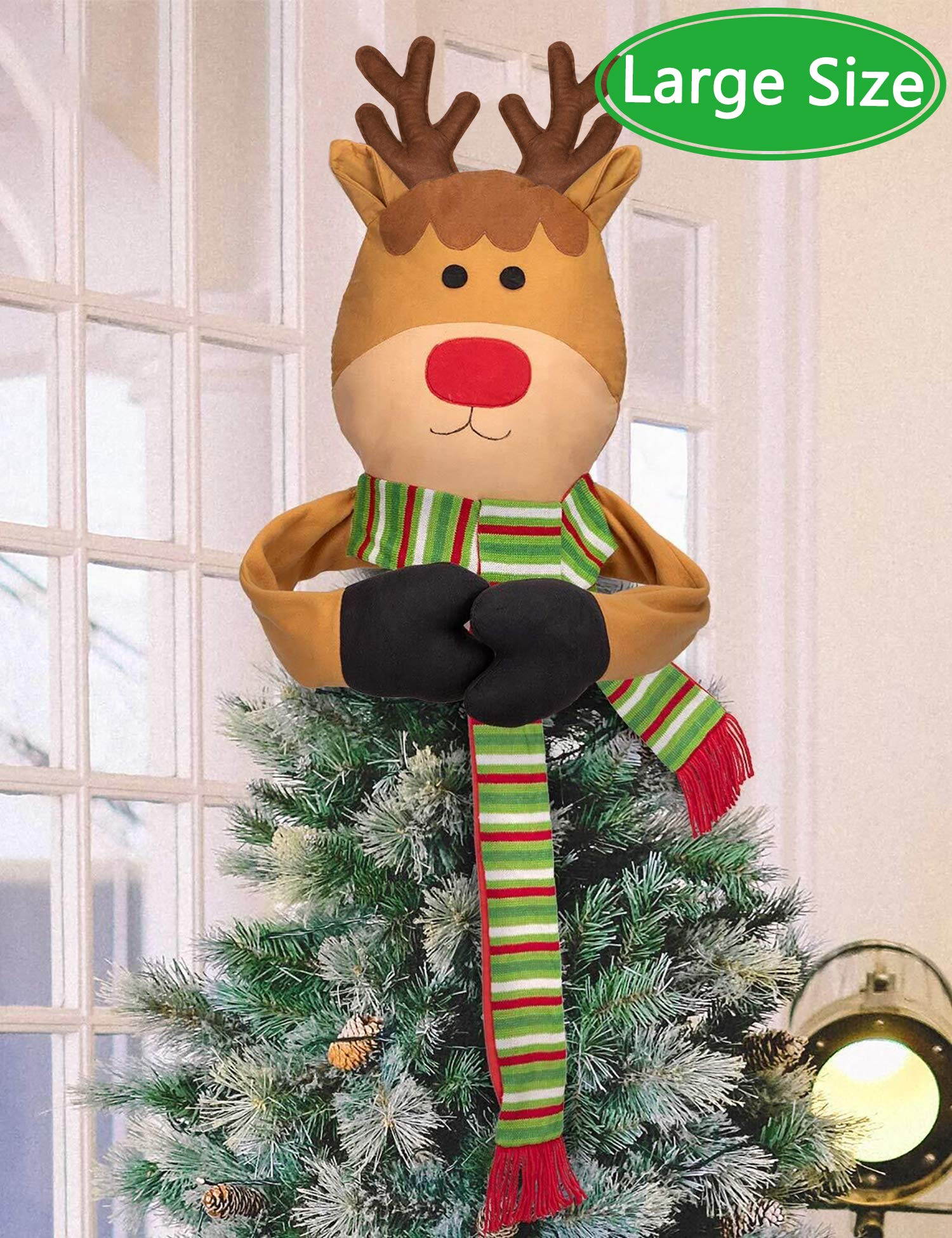 Image of Christmas Reindeer Tree Topper