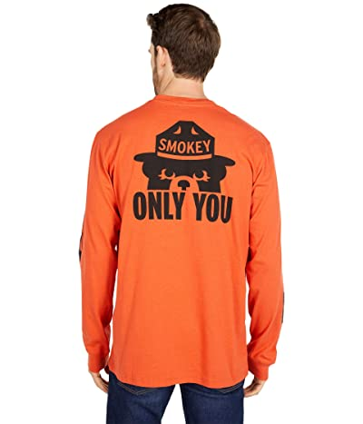 Filson Smokey Bear Long Sleeve T-Shirt (Flame) Men
