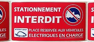 Format 50 x 100 m 30 /étiquettes stationnement g/ênant ou interdit pour v/éhicule mal gar/é Stickers autocollant