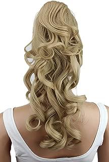 PRETTYSHOP Clip en las extensiones postizos de cabello pelo largo hechos de fibras sintéticas resistentes al calor rubio # 15 H213