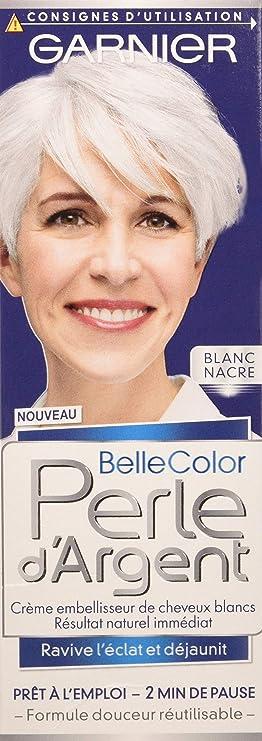 Garnier - Belle color plata de la perla - crema para el cabello rubio brillar déjaunisseur Blanco - White Pearl