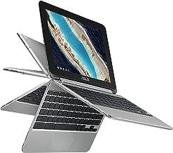 ASUS Chromebook Flip C101PA-DS04 10.1in Rockchip RK3399 Quad-Core Processor 2.0GHz, 4GB Memory, 32GB Storage, Lightweight, USB Type-C, Google Play Store, 360 degree HD Touchscreen (Renewed)