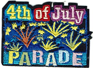 Girl Boy Cub 4th of July Parade Fun Patches Crests Badge Scout Guide Fireworks