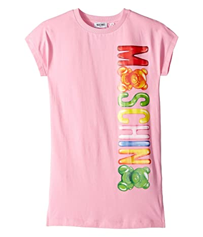 Moschino Kids Dress w/ Toy Gummy Bear Logo (Little Kids/Big Kids) (Pink) Girl