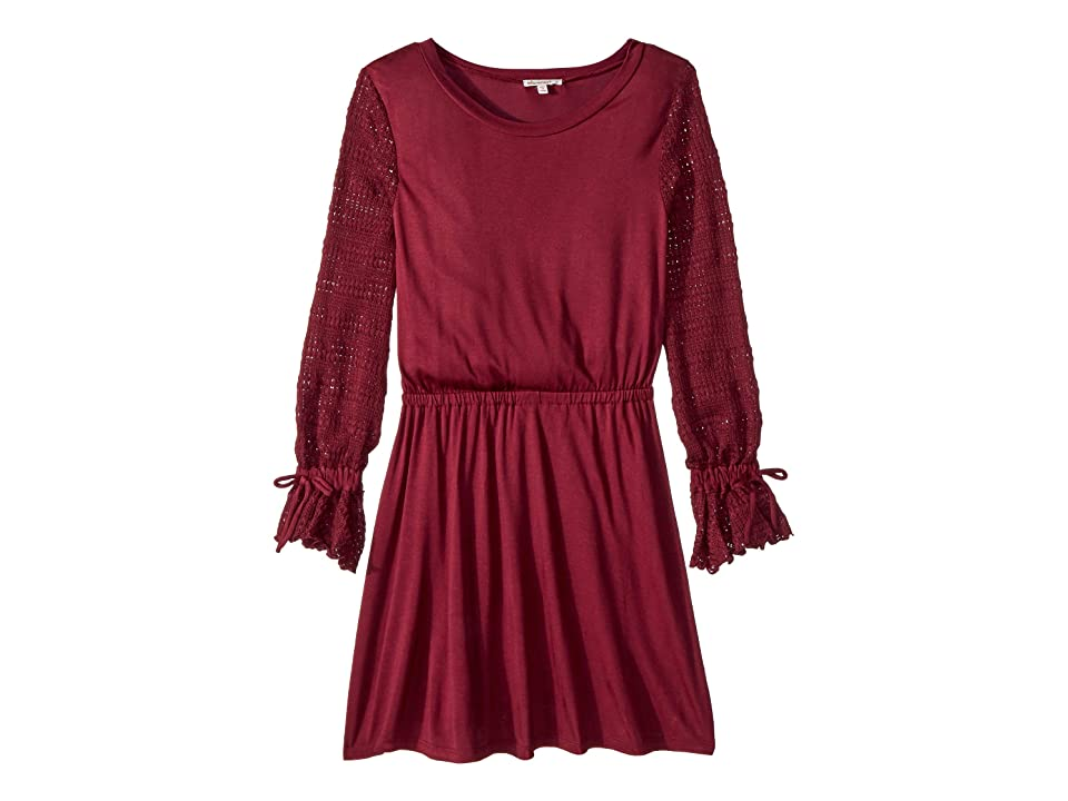 Ella Moss Girl Sweater Sleeve Dress (Big Kids) (Fig) Girl