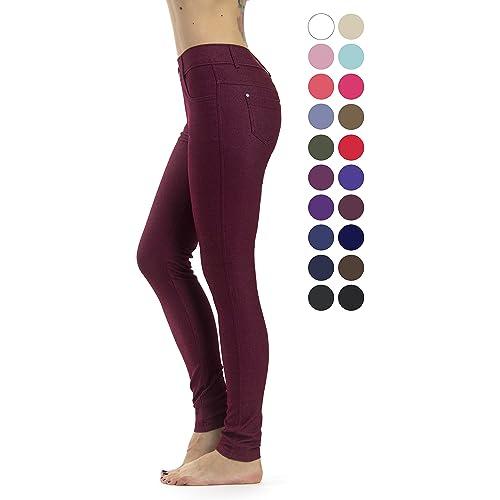 abe56e16323ea Prolific Health Women's Jean Look Jeggings Tights Slimming Many Colors  Spandex Leggings Pants Capri S-