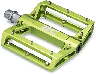 BC Lightweight Aluminum Bike Pedals - Great for MTB, BMX, Downhill - Wide Flat Platform with Removable Grip Pins - 9/16