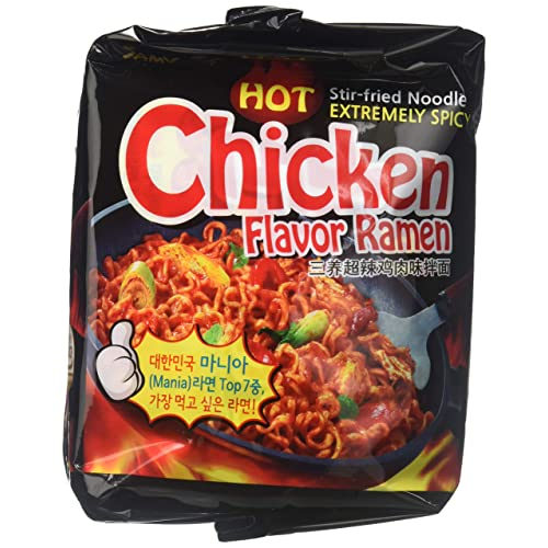Fusion Select Samyang Top Two Spicy Chicken Hot Ramen noodle Buldak Variety 10 Pack (5 each: Hek Nuclear, Original)