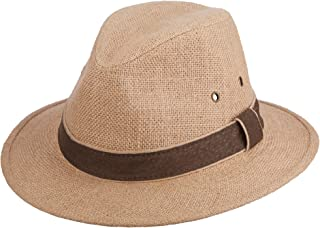 Men's Plus Size Hemp Safari Hat with Leather Band