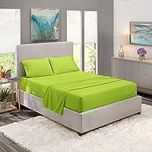 King Sheets - Bed Sheets King Size – Deep Pocket Hotel Sheets – Cool Sheets - Luxury 1800 Sheets Hotel Bedding Microfiber Sheets - Soft Sheets – King - Garden Green