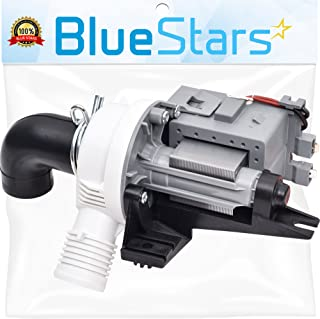 Ultra Durable W10536347 Washer Drain Pump Replacement part by Blue Stars - Exact Fit for Whirlpool Kenmore Washers - Repla...