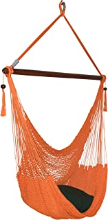 Large Caribbean Hammock Chair - 48 Inch - Polyester - Hanging Chair - orange