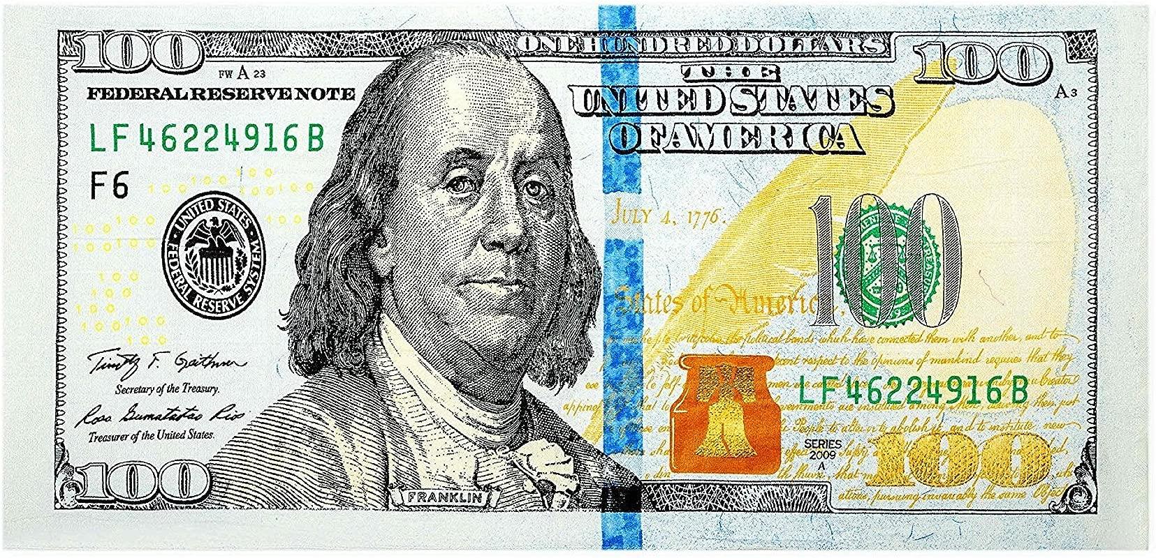 New 100 Dollar Bill 100 Print Beach Towel