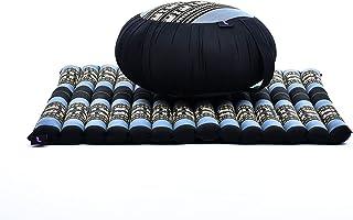 Leewadee Meditation Cushion Set: Round Zafu Pillow and Large Square Zabuton Mat for Floor Seating Eco-Friendly Organic and...