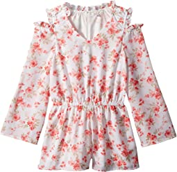 Cold Shoulder Floral Romper (Big Kids)