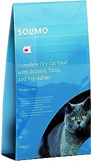 Marchio Amazon - Solimo - Alimento secco completo per gatti adulti con salmone, tonno e verdure, 1 confezione da 10 kg