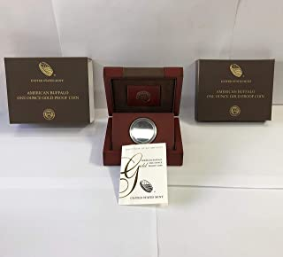 2009 W American Buffalo One Ounce Gold Proof Presentation Box COA/OGP - NO COINS