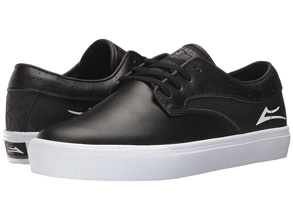 Lakai Riley Hawk (Black Leather) Men