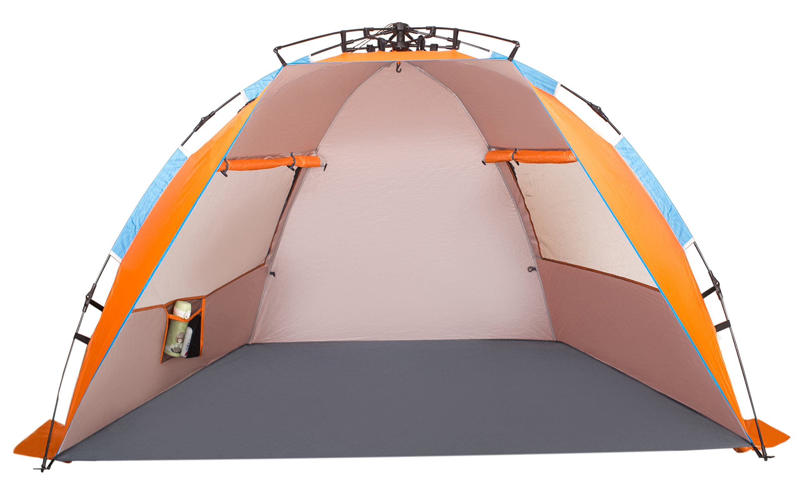 Oileus X-Large 4 Person Beach Tent Sun Shelter - Portable Sun Shade Instant Tent for Beach with Carrying Bag Stakes 6 Sand Pockets Anti UV for Fishing ...  sc 1 st  Amazon.com & Best half dome tents for beach | Amazon.com