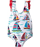 Hatley Kids - Sailboats Ruffle One-Piece Swimsuit (Toddler/Little Kids/Big Kids)