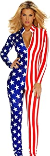 Women's Flag Zipfront Jumpsuit