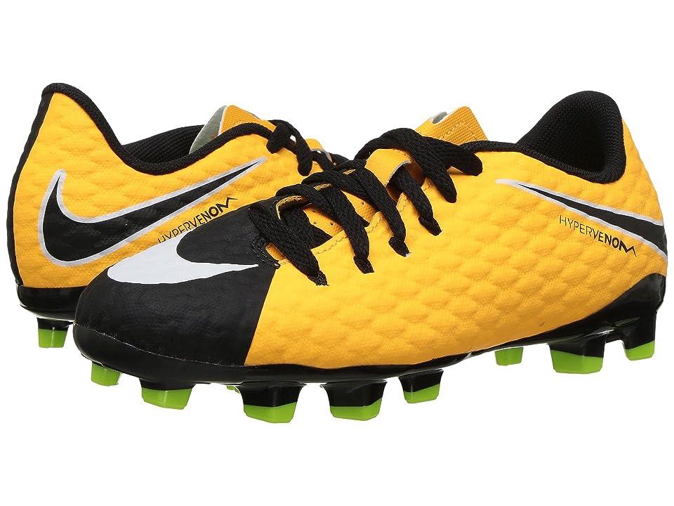 Nike Kids Jr Hypervenom Phelon III Soccer (Toddler/Little Kid/Big Kid) (Laser Orange/Black/Black/Volt) Kids Shoes