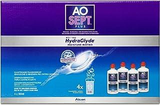 Aosept Plus Met Hydraglyde verzorgingsproduct, systeemverpakking, 360 ml (4-pack)
