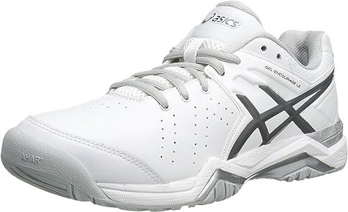 Asics Wohommes Gel-Encourage le Tennis chaussures,blanc argent,12 M US