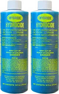 Hydrox Hydrocide One-Step Disinfectant Cleaner, 16 Ounce (Pack of 2)