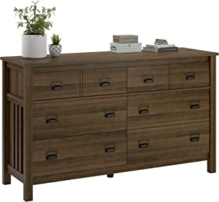 Ameriwood Home Adams 6 Drawer Dresser, Brown Oak