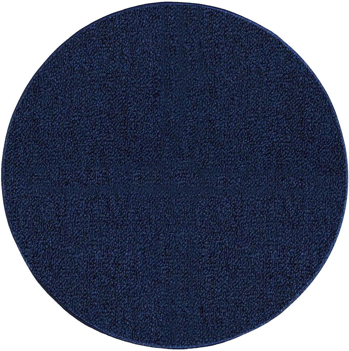 NEW before selling ☆ Saturn Collection Solid Color Indoor Outdoor Area Navy - Excellent Rugs 2'
